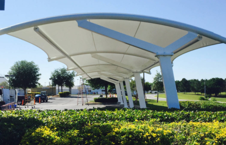 Side View Construction Shade Sail