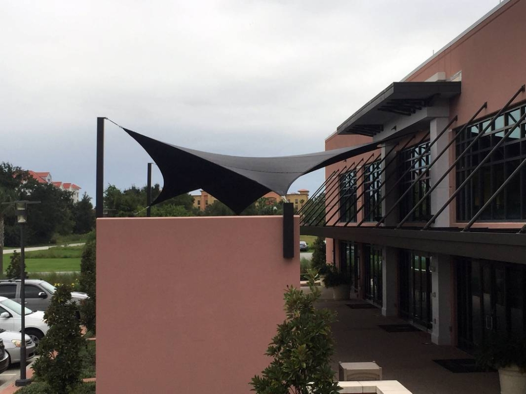 Side View Emby Suites Shade Sail