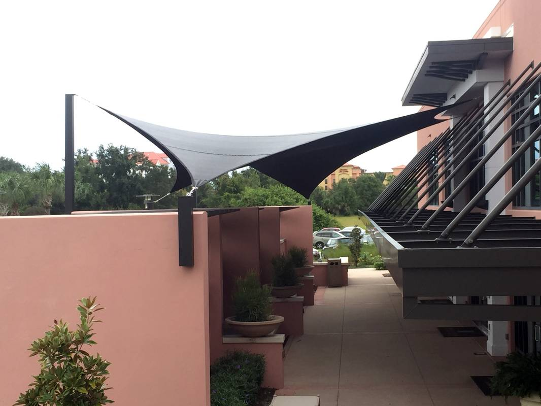 Embly Final Result Side View Emby Suites Shade Sail